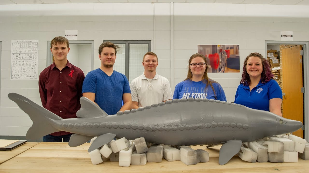 High School Students Designed and Built This MASSIVE 3D-Printed Lake Sturgeon