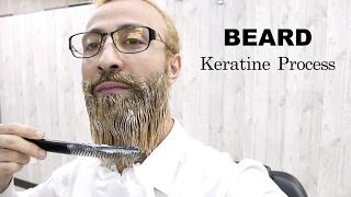 BEARD STRAIGHTENING ★BEARD ṪREATMENT ★ SMOOTHING CURLY BEARD TO STRAIGHT | DRY BEARD ✔️