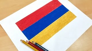 Armenian Flag Drawing 🇦🇲