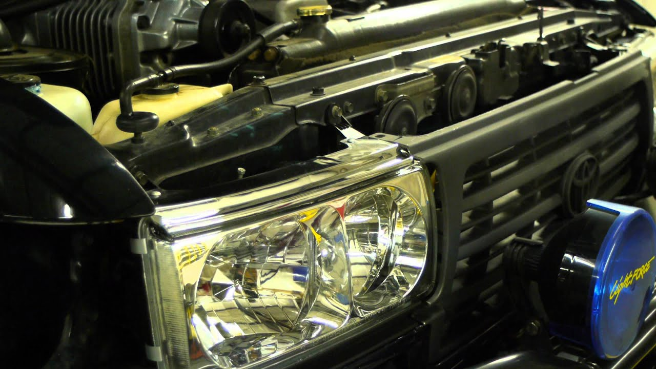 Depo lights Install - YouTube & Toyota Land Cruiser FJ80. Depo lights Install