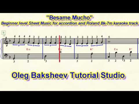 Besame Mucho Accordion Sheet Music Review Beginner level