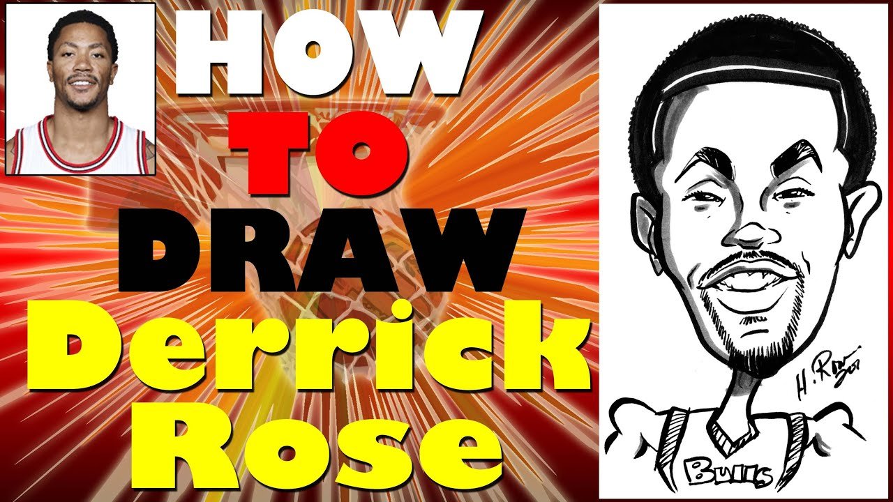 How To Draw A Quick Caricature Derrick Rose With Fro