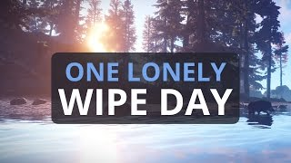 ONE LONELY WIPE DAY Rust Solo Survival 8 S3 Ep1