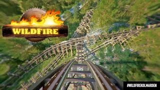 Wildfire Roller Coaster POV Updated Video Kolmarden Zoo Sweden 2016