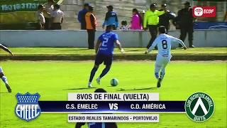 Hoy Emelec Vs América De Quito - Octavos De Final Vuelta Copa Ecuador