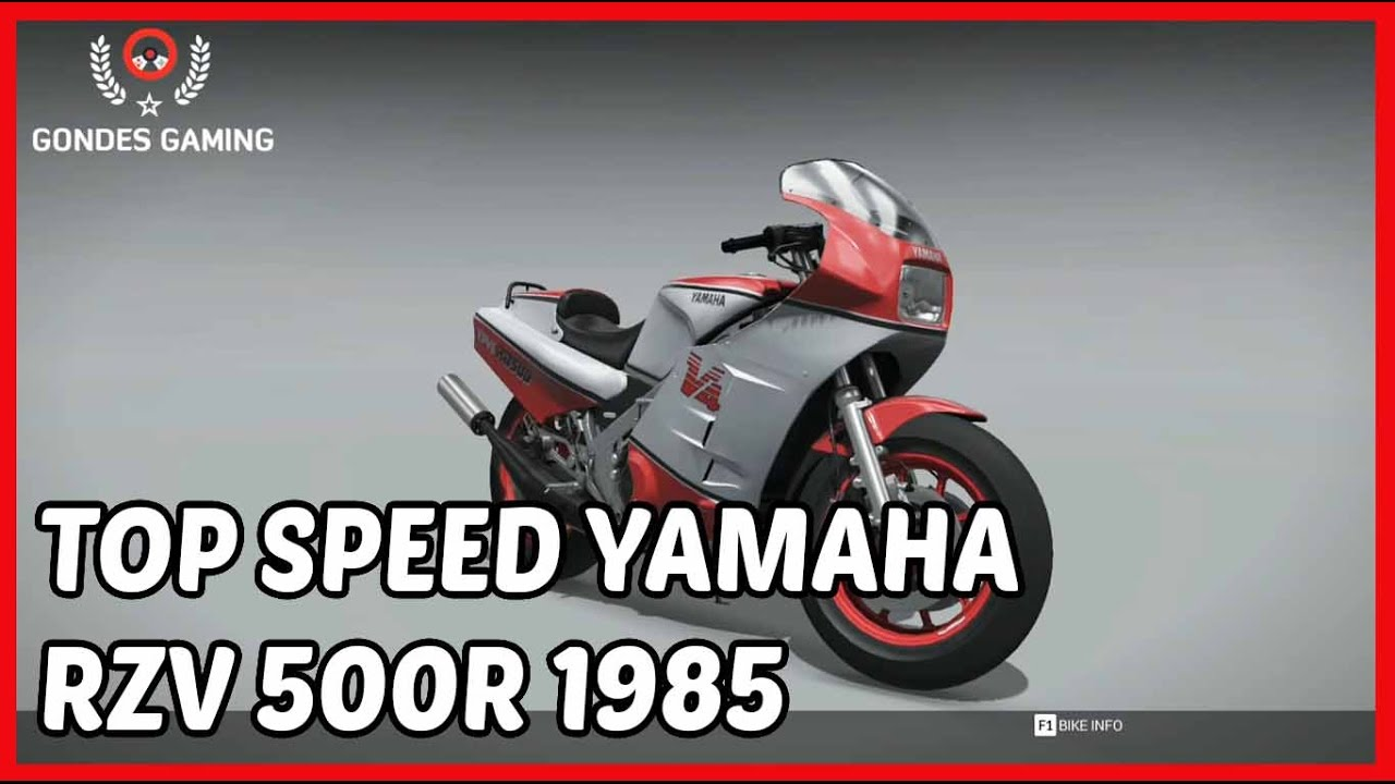 Top Speed Yamaha RZV 500R 1985 220KM/H In Ride 2