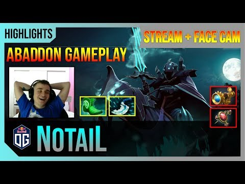 N0taiL - Abaddon Gameplay   STREAM FACE CAM with Commentary   Highlights Dota 2 Pro MMR