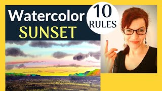 Watercolor Sunset (10 Simple Rules!)
