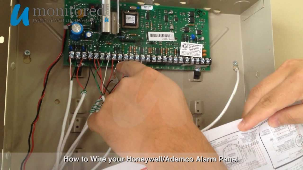 How to wire your new Honeywell/Ademco Alarm Panel - YouTube