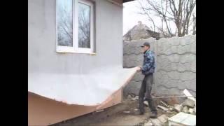 видео Утепление деревянного дома снаружи пенопластом