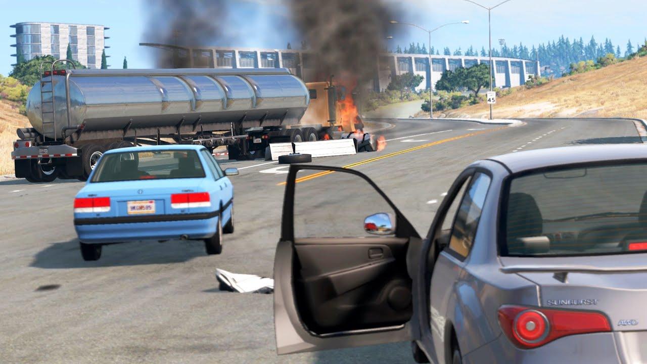 Bystander POV Crashes 2 | BeamNG.drive