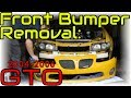 How to Remove a GTO Front Bumper • Cars Simplified Quick Tips
