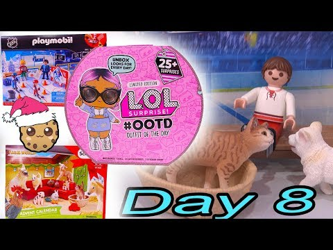 Day 8 ! LOL Surprise - Playmobil - Schleich Animals Christmas Advent Calendar - Cookie Swirl C