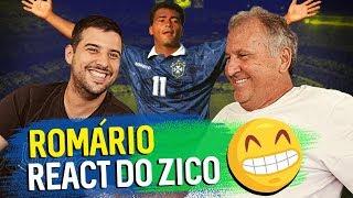 ZICO REAGE AOS LANCES DO ROMÁRIO | Canal Zico 10