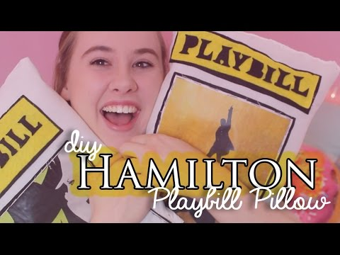 DIY Hamilton Musical Playbill Pillow | Crafternoons With Creatie