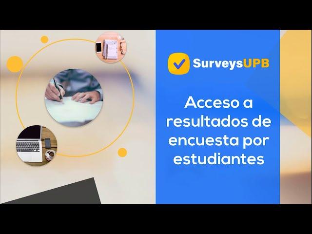 Acceso a resultados de encuestas por estudiantes