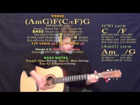 Glory (John Legend) Guitar Lesson Chord Chart