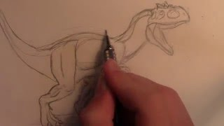 how to draw indominus rex from jurassic world the game part 1