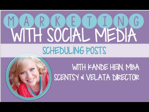 Social Media Marketing: Scheduling Business and Facebook Party Posts