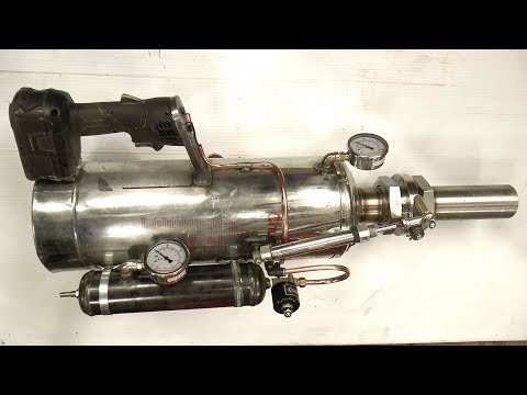 Making a Handheld Air Cannon Steampunk/Powerfull