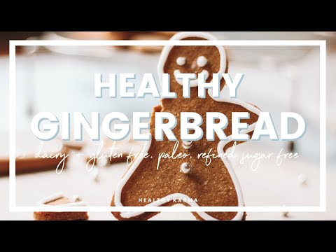 HEALTHY GINGERBREAD MEN | Paleo, Gluten Free, Dairy Free