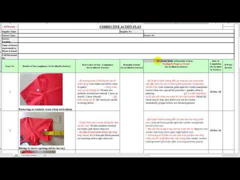 CAP-Corrective Action Plan  | Hướng dẫn QA/QC làm bảng hành động khắc phục lỗi