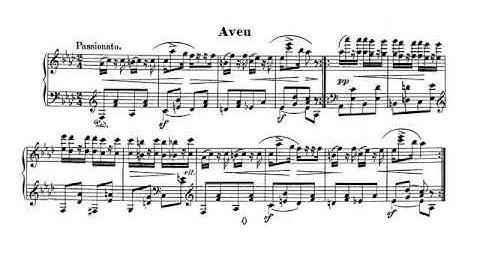 Schumann. Piano. Carnaval Op. 9 18-Aveu. Partitura. Audición.