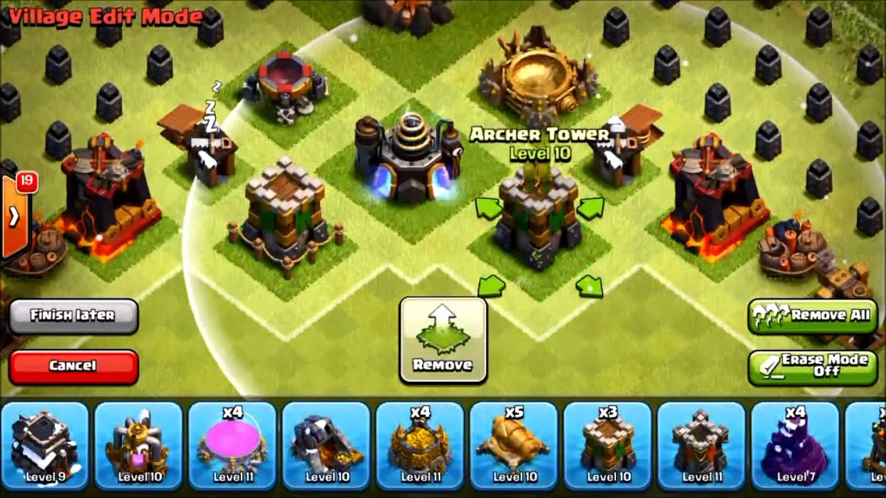 Clash of Clans Town Hall 9 (TH9) Christmas Tree Spawning Hybrid Base by  Jamster Plays