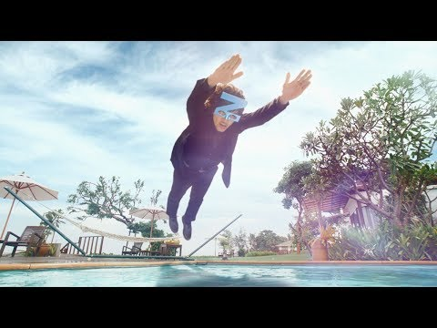 斎藤工、妄想全開で謎の美女に向かってダイブ 桧家ホールディングス『Z空調』新TVCM