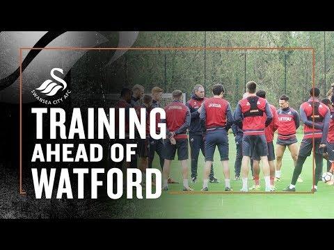 Training ahead of Watford