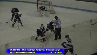 Acton Boxborough Girls Ice Hockey at Chelmsford 1/3/15