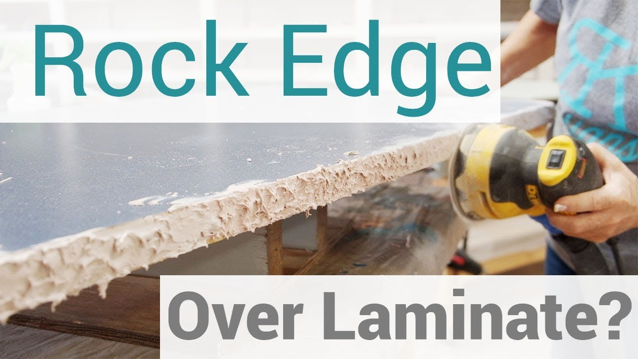 Creating a Rock Edge Over Existing Countertops