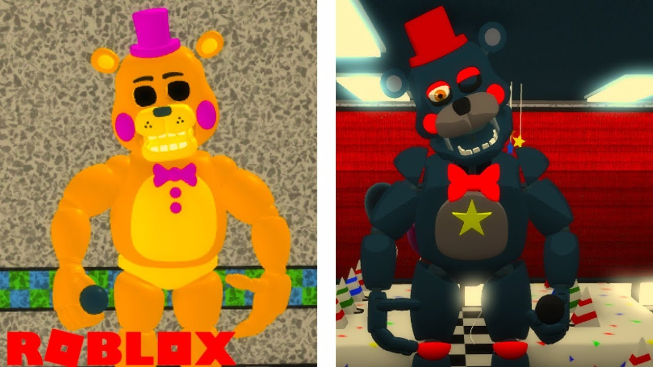 Becoming Golden Toy Freddy And Lefty In Roblox Fazbear S 1985 The