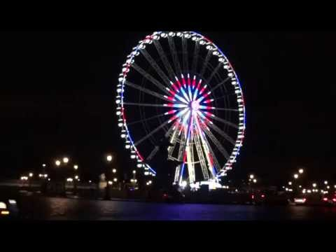 paris by night la grande roue place de la concorde en novembre 2015 youtube. Black Bedroom Furniture Sets. Home Design Ideas