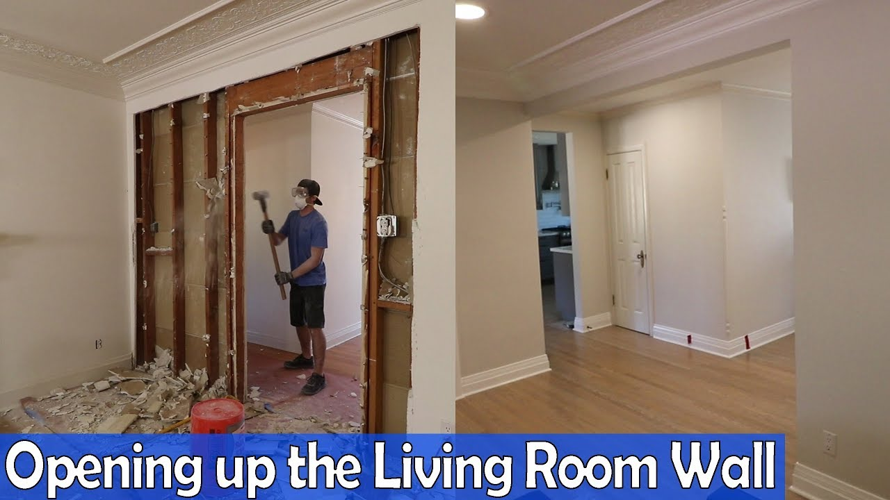 Opening Up The Living Room Wall Youtube
