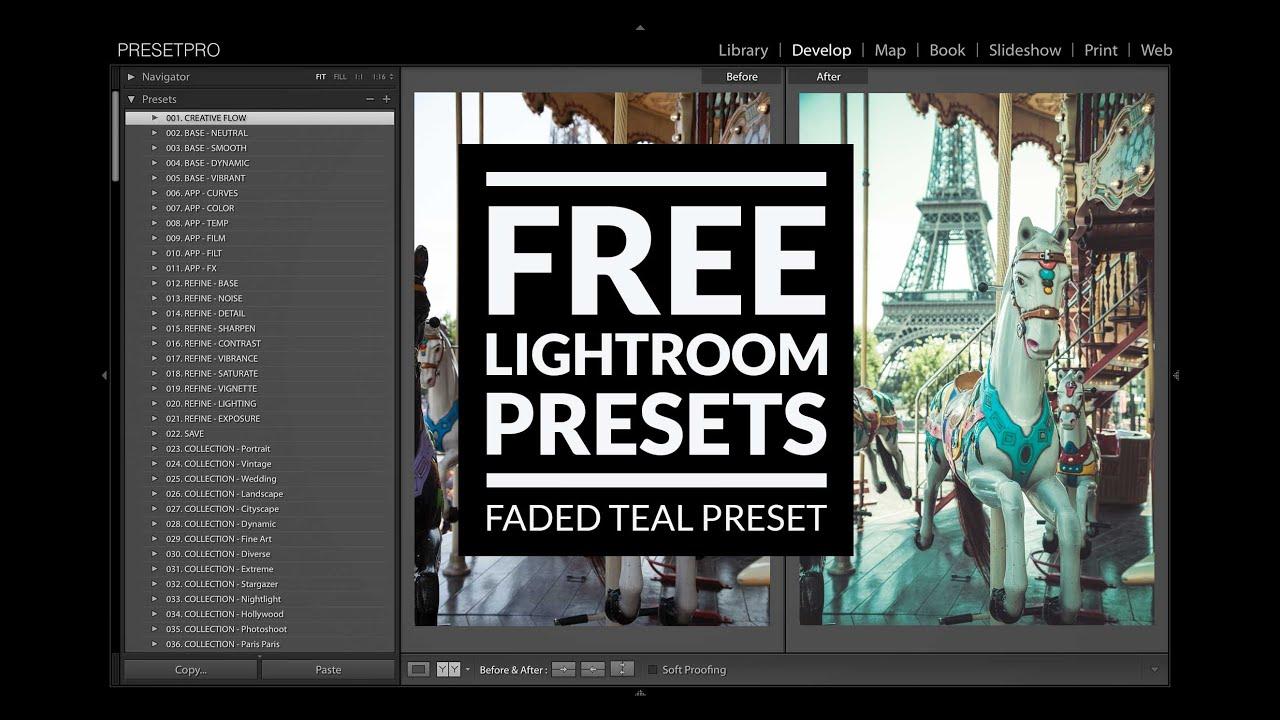 Free Lightroom Preset Faded Teal - Download Now!