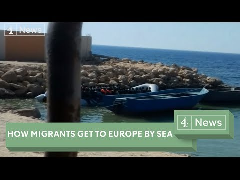 How migrants get to Europe from Libya