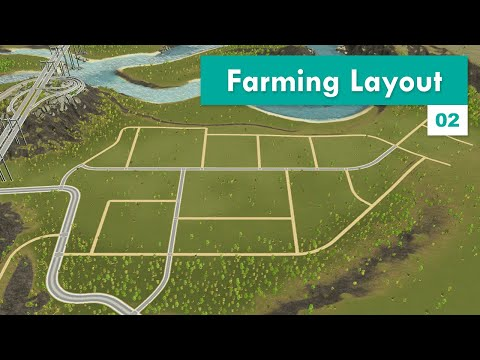 Building a Starter Farming Industry Layout | Cities: Skylines – Design and Manage S3E02 |