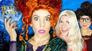 Giant HOCUS POCUS Movie in Real Life to Find Imposter! | Rebecca Zamolo