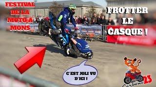 IL FROTTE SON CASQUE AU SOL ! FESTIVAL DE LA MOTO À MONS !