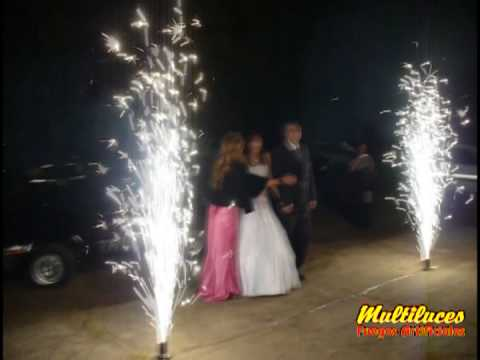 Cumple de 15 Antonella López  por Fuegos Artificiales 'Multiluces'