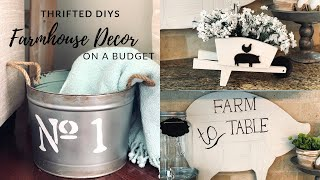 Thrift Store Makeovers|Farmhouse DIY Room Decor on a Budget!