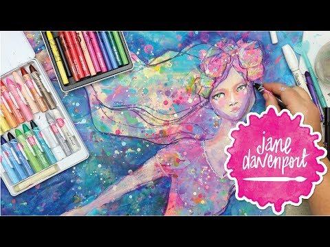 Power Pastels, AquaPastels & Fabulous Figures with Jane Davenport