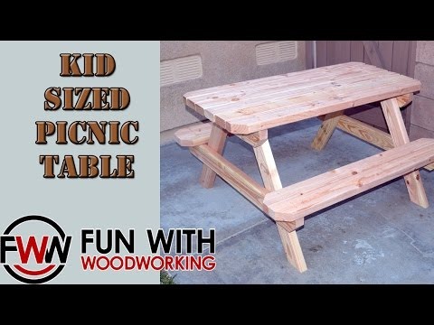 Project - How to build a kid sized picnic table out of 8 2x4's