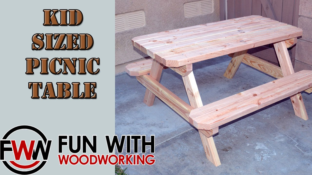 Project How To Build A Kid Sized Picnic Table Out Of 8 2x4 S Youtube