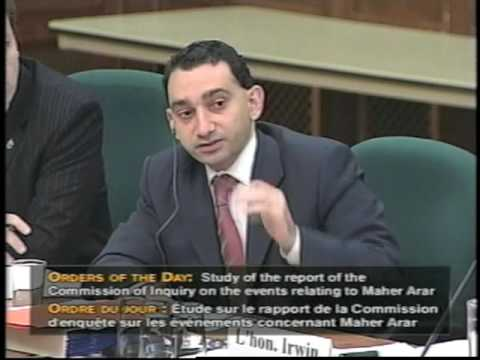 Omar Alghabra Speaking Out on the Maher Arar Case