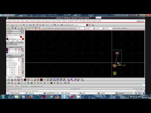 Cadence IC6.1.6/6.1.7 Virtuoso Tutorial -1 Part 4 (Layout Design and Physical Verification)