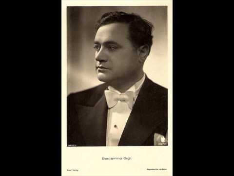 Beniamino Gigli - Omaggio a Bellini (Chopin) 1949