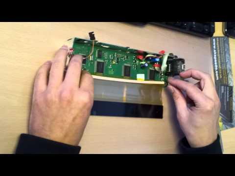 BMW X5 E53 E39 Radio MID New LCD & Non Bond Pixel Repair Ribbon instruction video