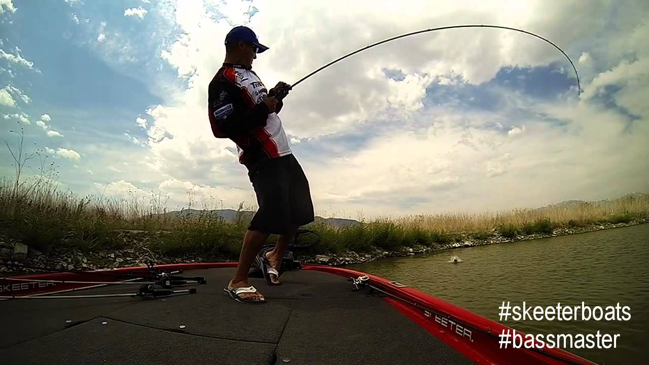 Utah lake bass fishing with professional angler mike for Professional bass fishing